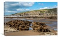 Dunraven Bay, Southerndown, on a sunny afternoon, Canvas Print