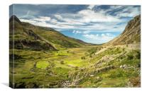 Nant Ffrancon Valley Snowdonia North Wales, Canvas Print