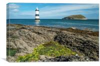 Penmon Lighthouse Anglesey, Canvas Print
