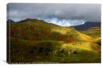 Top of the Nant Ffrancon Pass, Snowdonia, Canvas Print
