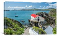 St Justinian's and Lifeboat Station Pembrokeshire , Canvas Print