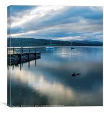 Cloud Reflections Lake Windermere, Canvas Print