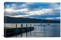Evening on Lake Windermere, Canvas Print