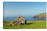 St Helen's Oratory Chapel Cape Cornwall, Canvas Print