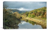 The River Wye at Brockweir in the Wye Valley, Canvas Print