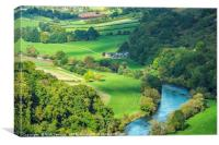 River Wye from Yat Rock Herefordshire, Canvas Print
