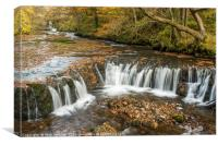 The Horseshoe Falls River Neath , Canvas Print