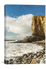 The Sphinx Rock Cliff at Nash Point, Canvas Print