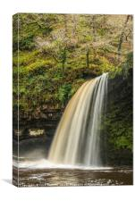 Scwd Gwladys Waterfall Winter Vale of Neath, Canvas Print