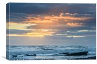 Sunset over the Ocean, Canvas Print