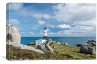 Peninnis Headland and Lighthouse Scillies, Canvas Print