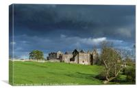 Beaupre Castle in the Vale of Glamorgan Wales, Canvas Print