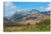 The Langdale Pikes from Blea Tarn Lake District, Canvas Print