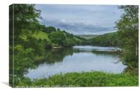 The Lower Lliw Valley Reservoir South Wales, Canvas Print
