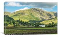 Grey Crag Above Hartsop Lake District, Canvas Print