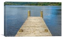 Jetty on Ullswater Lake District, Canvas Print