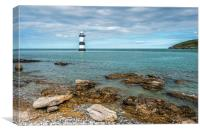 Penmon Lighthouse off the Anglesey Coast, Canvas Print