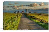 Nash Point Old Lighthouse Glamorgan Heritage Coast, Canvas Print