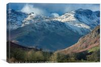 Bowfell from the Langdale Valley Lake District, Canvas Print