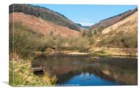 Clydach Vale Upper Pool Rhondda Valley South Wales, Canvas Print