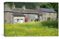 Arncliffe Village Littondale Yorkshire Dales, Canvas Print