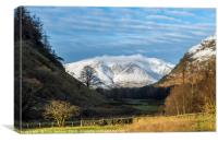 Blencathra from St Johns in the Vale Lake District, Canvas Print
