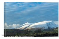 Skiddaw in Winter Lake District, Canvas Print