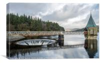 Pontsticill Reservoir and Outflow Brecon Beacons , Canvas Print