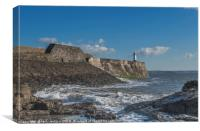 The Harbour Wall Porthcawl South Wales, Canvas Print
