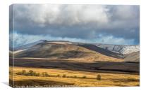 The Central Brecon Beacons in February , Canvas Print