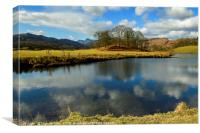 The River Brathay in the Great Langdale Valley , Canvas Print