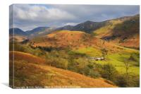 Upper Troutbeck Valley Lake District Cumbria, Canvas Print