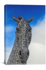 One of the Two Kelpies Helix Park Falkirk, Canvas Print