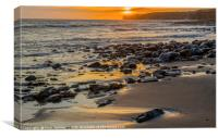 Llantwit Major Beach and Sunset Glamorgan Coast, Canvas Print