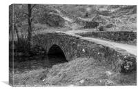 Stone Arched Bridge Tilberthwaite Lake District , Canvas Print