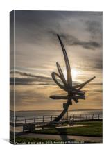 The Kitetail Sculpture Aberavon Seafront, Canvas Print