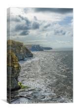 The Glamorgan Heritage Coast from Southerndown, Canvas Print
