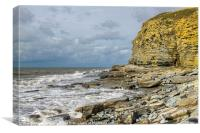 Cliffs at Dunraven Bay Southerndown, Canvas Print