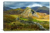 The Bell Coniston Fells Lake District, Canvas Print