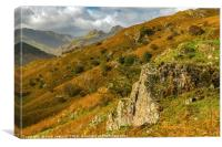 The Great Langdale Valley Lake District , Canvas Print