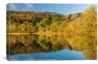 Coniston Water on a sunny Winter day Lake District, Canvas Print
