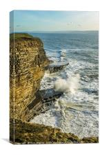 Waves at Nash Point South Wales, Canvas Print