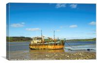 The Vicky Leigh at Ferryside Carmarthenshire, Canvas Print
