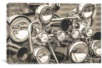 Scooter lights from a Vintage Vespa, Canvas Print