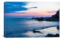 Watching the Bude Sunset, Canvas Print