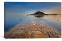 St Michael's Mount and Causeway, Canvas Print