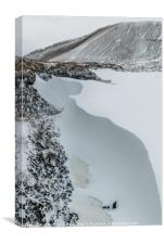 Snow drift in the Brecon Beacons, Wales, Canvas Print
