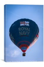 Royal Navy hot air balloon, Canvas Print