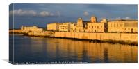 Sunrise on Syracuse seafront, Canvas Print