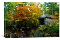 Ossian's Hall at the Hermitage in autumn, Canvas Print